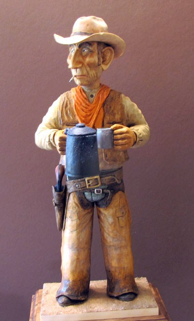 Cowboy Caricature Carving