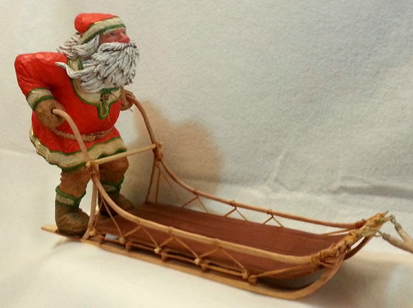 Santa Wood Carving