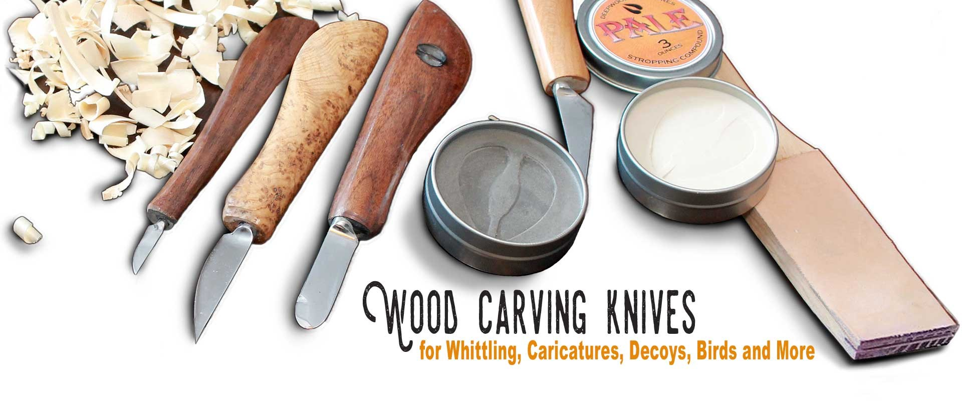 2 Deepwoods Woodcarving Tools Knives Detail /& Roughout Decoy Caricature